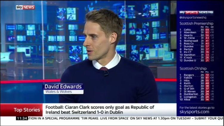 Me as a guest on the Saturday Sport Show on Sky News discussing the international break