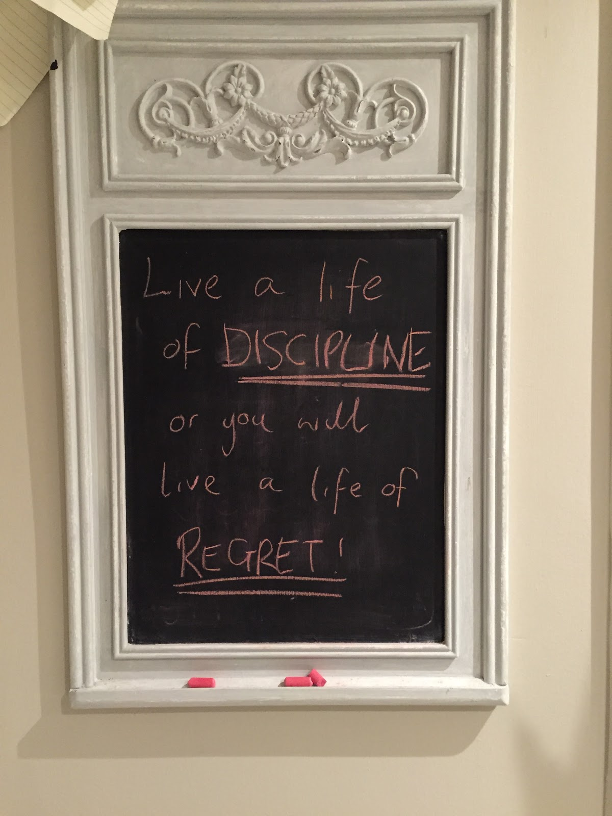 Live a life of DISCIPLINE or you will live a life of REGRET